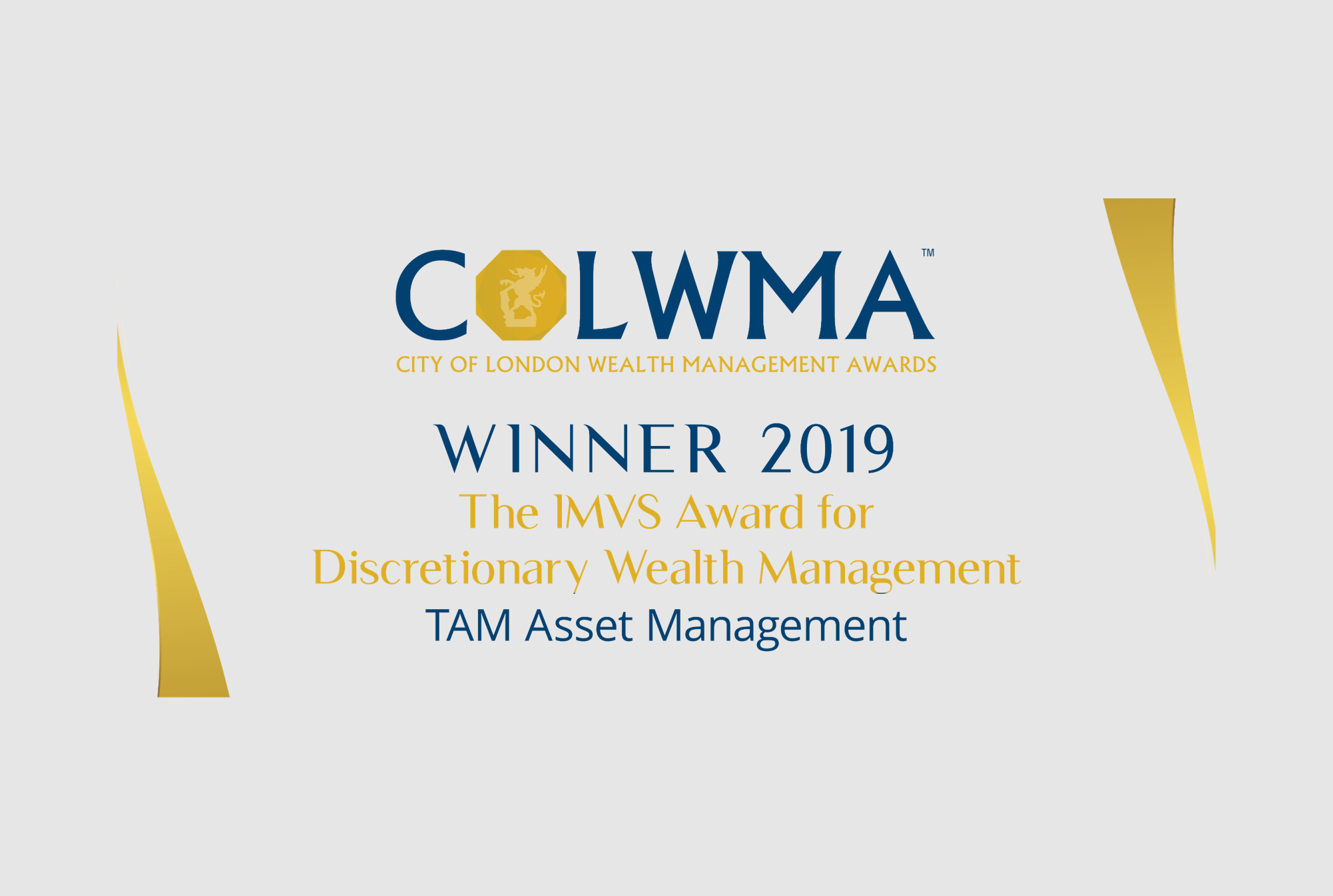 TAM awarded Best in Discretionary Wealth Management!